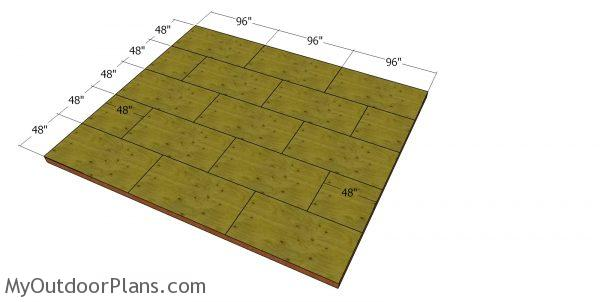Floor sheets - 20x24 shed