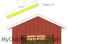 Front and back roof trims - 12x24 pole barn