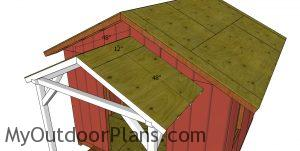 Front porch roof sheets