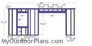 Front wall frame - 20x24 shed