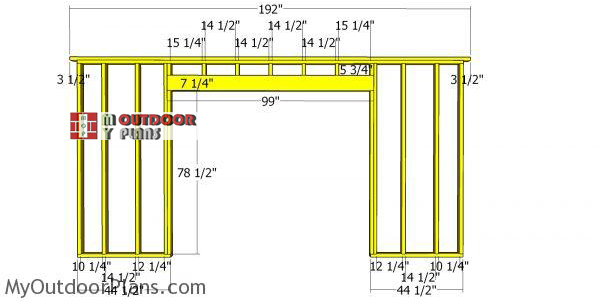 Front-wall-frame-for-16x18-shed