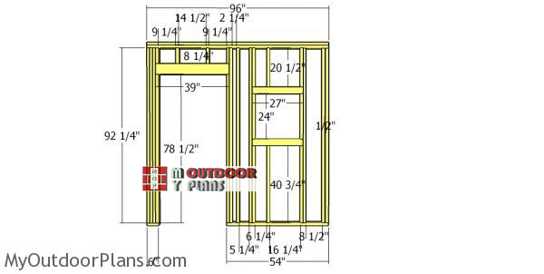 Front-wall-frame-for-8x8-saltbox-shed