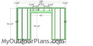 Front wall frame - small modern office shed