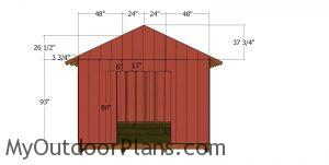 Front wall panels - 12x12 shed