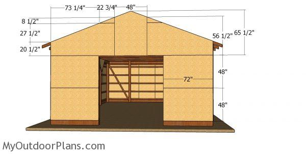 Front wall panels - 20x30 large pole barn