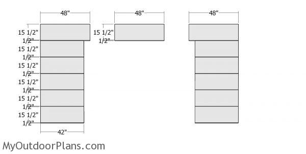 Front wall panels - 8x12 shed