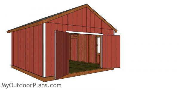 How to build a 16x18 gable shed