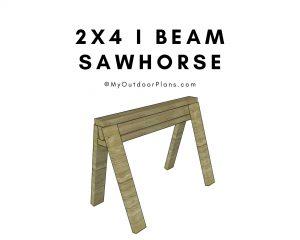 I beam sawhorse plans