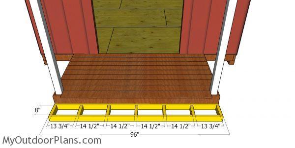 Lower step frame