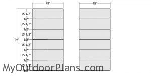 Plain side wall panels - 8x12 modern shed