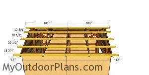 Roof purlins - 12x16 pole barn