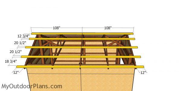 12x16 Pole Barn Roof Plans | MyOutdoorPlans | Free ...