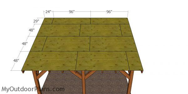 Roof sheets -12x16 lean to pavilion
