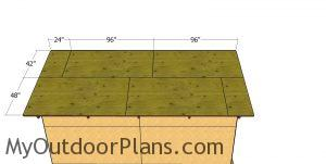 Roof sheets - 12x16 pole barn