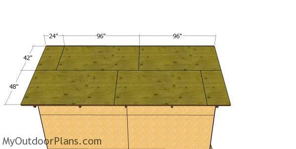 Roof sheets - 12x16 pole barn