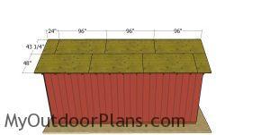 Roof sheets - 12x24 pole barn