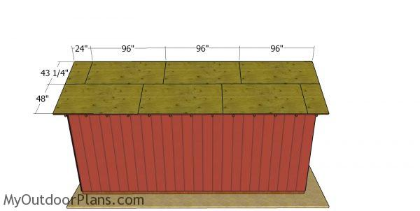 Roof sheets - 12x24 pole barn