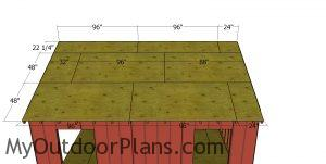 Roof sheets - 16x18 shed