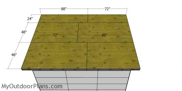 Roof sheets - 8x12 office shed