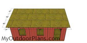 Roof sheets - gable 20x24 shed