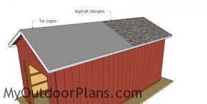 Roofing for 12x24 shed