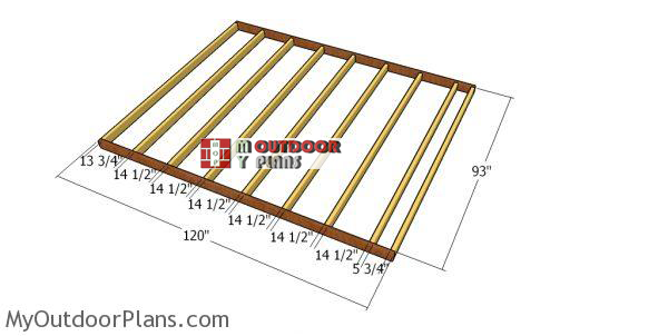 Shed-floor-frame-8x10