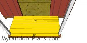Shed porch decking boards