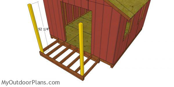 Shed porch posts
