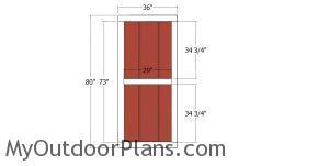 Side door - 20x24 shed