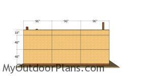Side panels - 12x24 pole barn