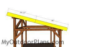 Side roof trims - 12x16 pavilion