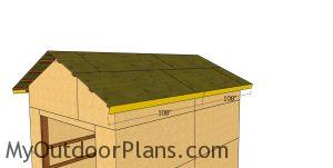 Side roof trims - 12x16 pole barn