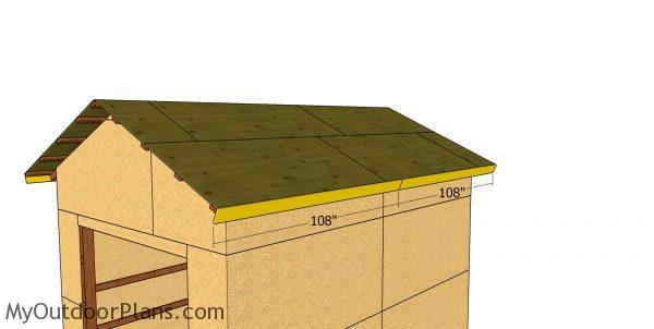 Side roof trims - 12x16 pole barn