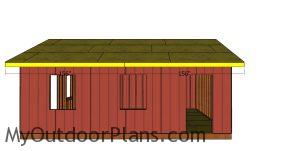 Side roof trims - 20x24 shed