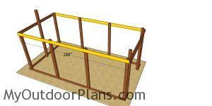 Side truss carriers - 12x24 pole barn