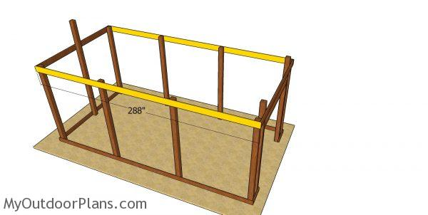 Side truss carriers - 12x24 pole barn