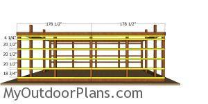 Side wall girt boards - large pole barn