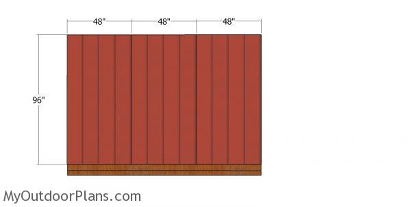 Side wall panels - 12x12 shed