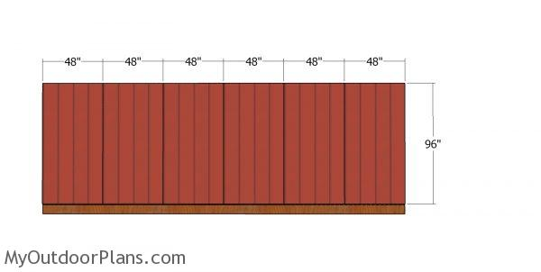 Side wall panels - 20x24 shed