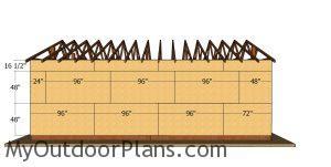 Side wall panels - 20x30 pole barn