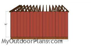 Side wall siding sheet