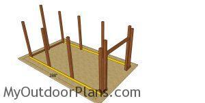 Splash boards - large pole barn