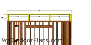 Top front wall frame - 8x12 lean to shed