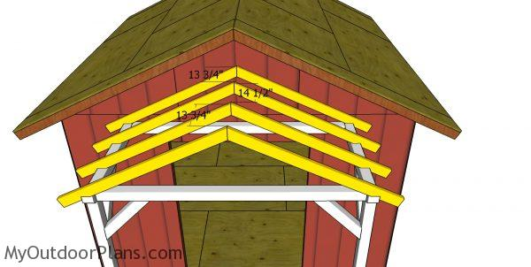 Trusses for the front porch