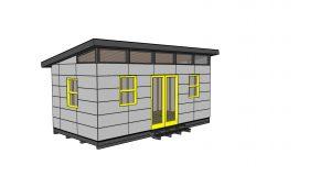 10×20 Modern Office Shed Plans – Free PDF Download