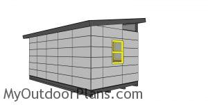 10x20 Lean to Shed Plans - back view