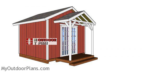 12x12-she-shed-with-gable-roof-and-porch-plans