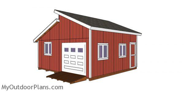 20x20 Clerestory Shed Plans