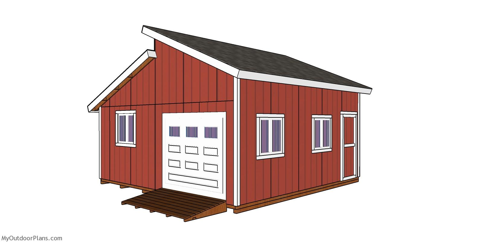 20x20 Clerestory Shed - Free Shed Plans and Drawings