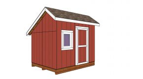 8×10 Saltbox Shed – Free DIY Plans